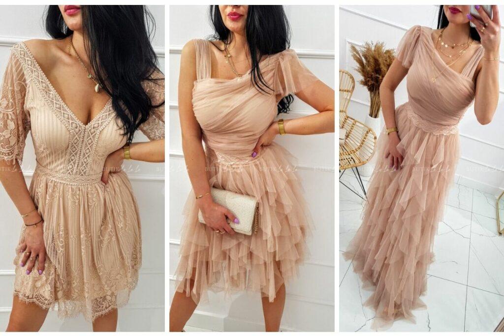 szyfonowe sukienki na wesele