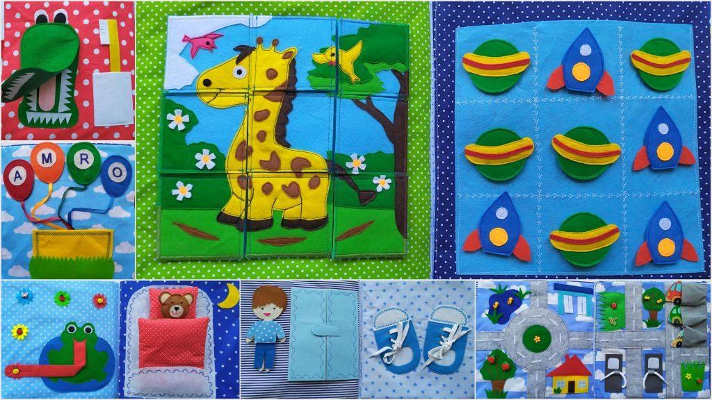 sensoryczna książeczka dla dzieci