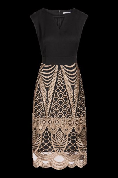 QUIOSQUE sukienka ze złotym wzorem