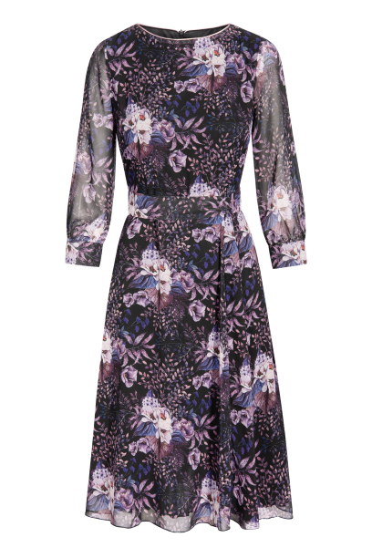 QUIOSQUE sukienka w fioletowe kwiaty