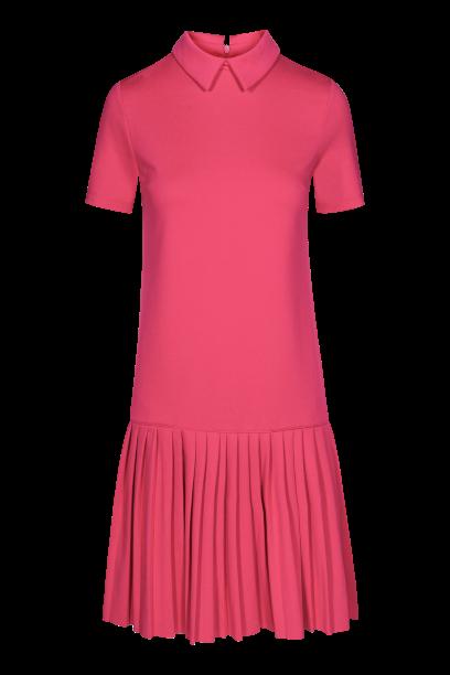 QUIOSQUE malinowa sukienka z plisowanym dołem