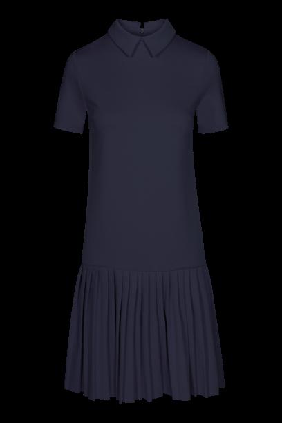 QUIOSQUE czarna sukienka z plisowanym dołem