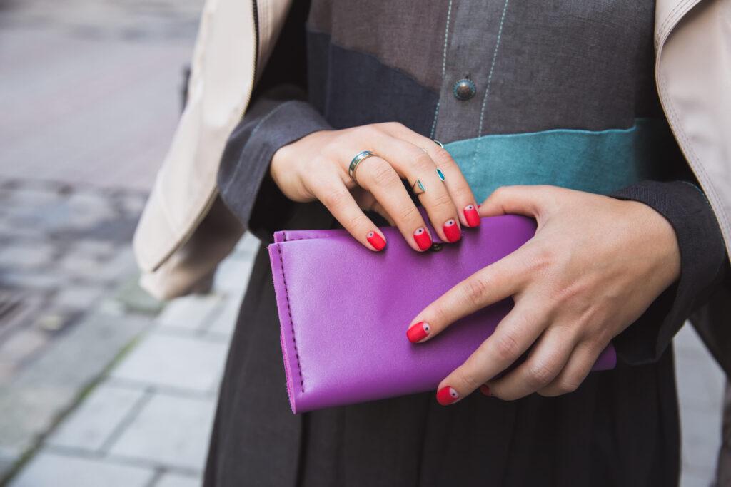 Duży damski portfel