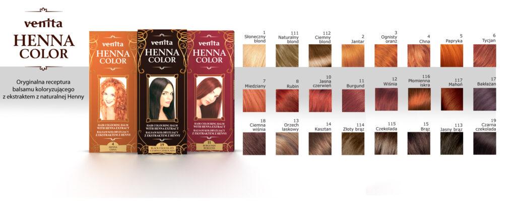 Venita Ziołowe Balsamy Henna Color