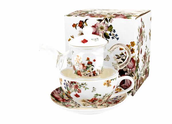 Porcelanowy zestaw do parzenia herbaty