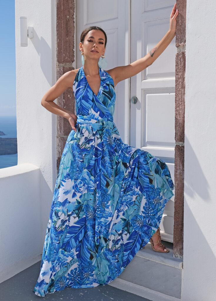sukienka maxi wiązana na szyi Mosquito