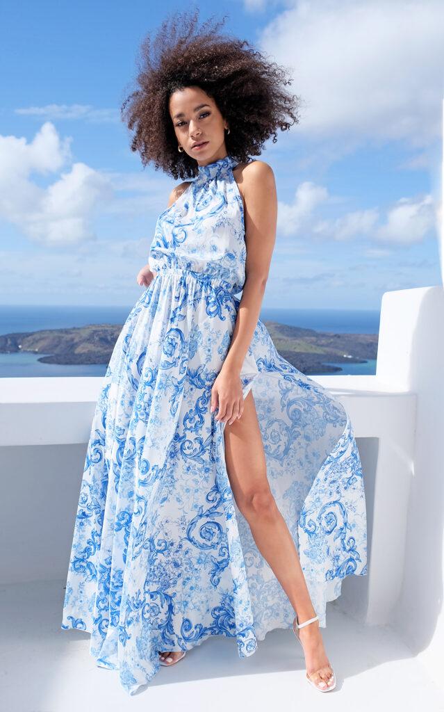 błękitna sukienka Mosquito