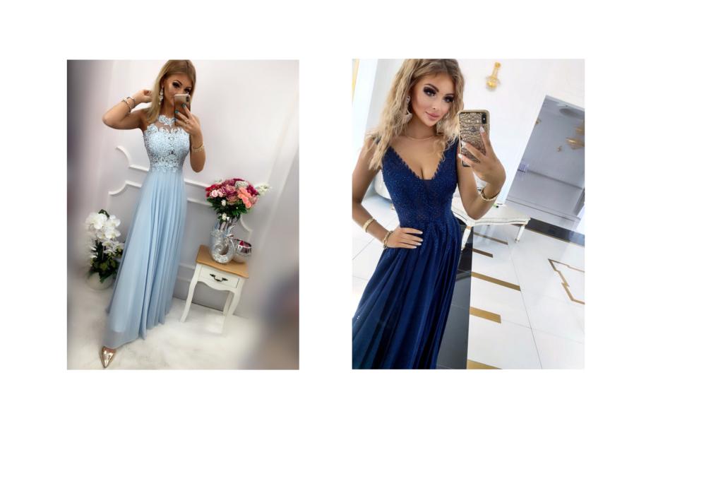 błękitna sukienka maxi