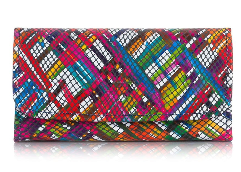 Damski portfel skórzany mozaika Paolo Peruzzi