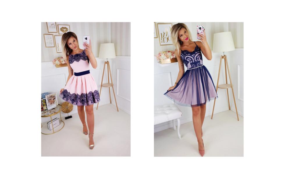 sukienka maxi z dekoltem typu serek