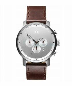 zegarek meski mvmt silver brown leather chrono
